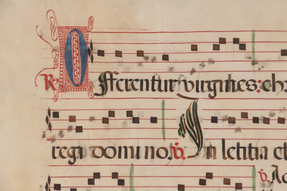 Illuminated Gregorian Musical Manuscript - 4
