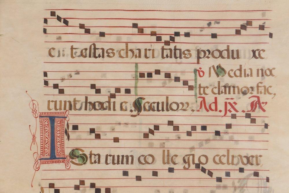 Illuminated Gregorian Musical Manuscript - 5
