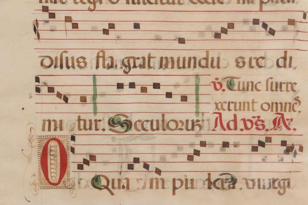 Illuminated Gregorian Musical Manuscript - 6