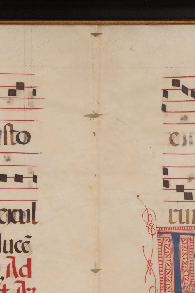 Illuminated Gregorian Musical Manuscript - 7