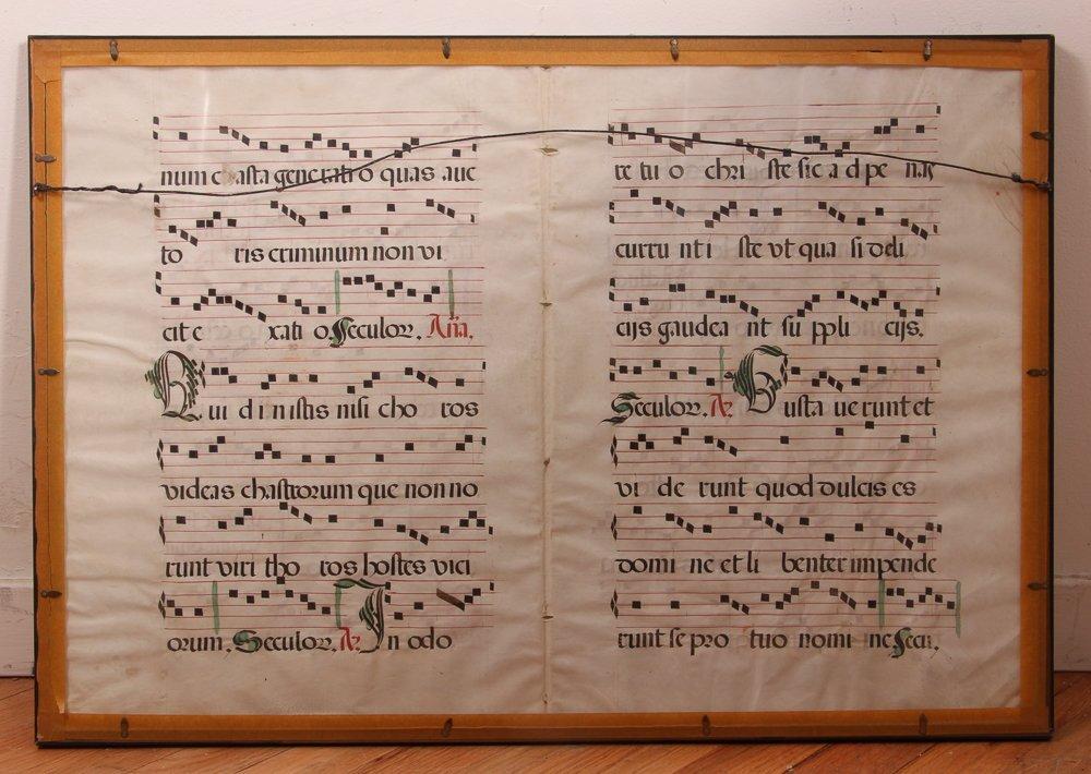 Illuminated Gregorian Musical Manuscript - 8