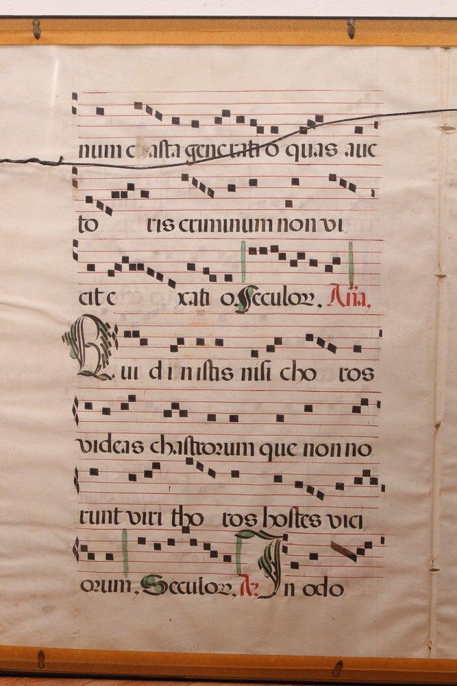 Illuminated Gregorian Musical Manuscript - 9