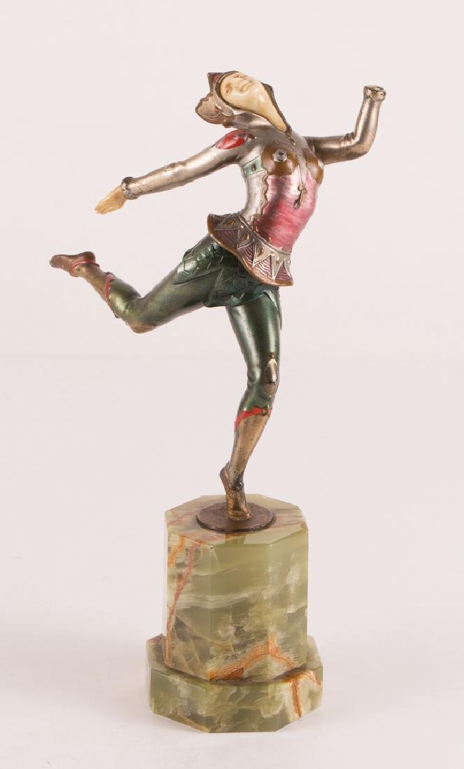 Art Deco Dancer on Marble Stand