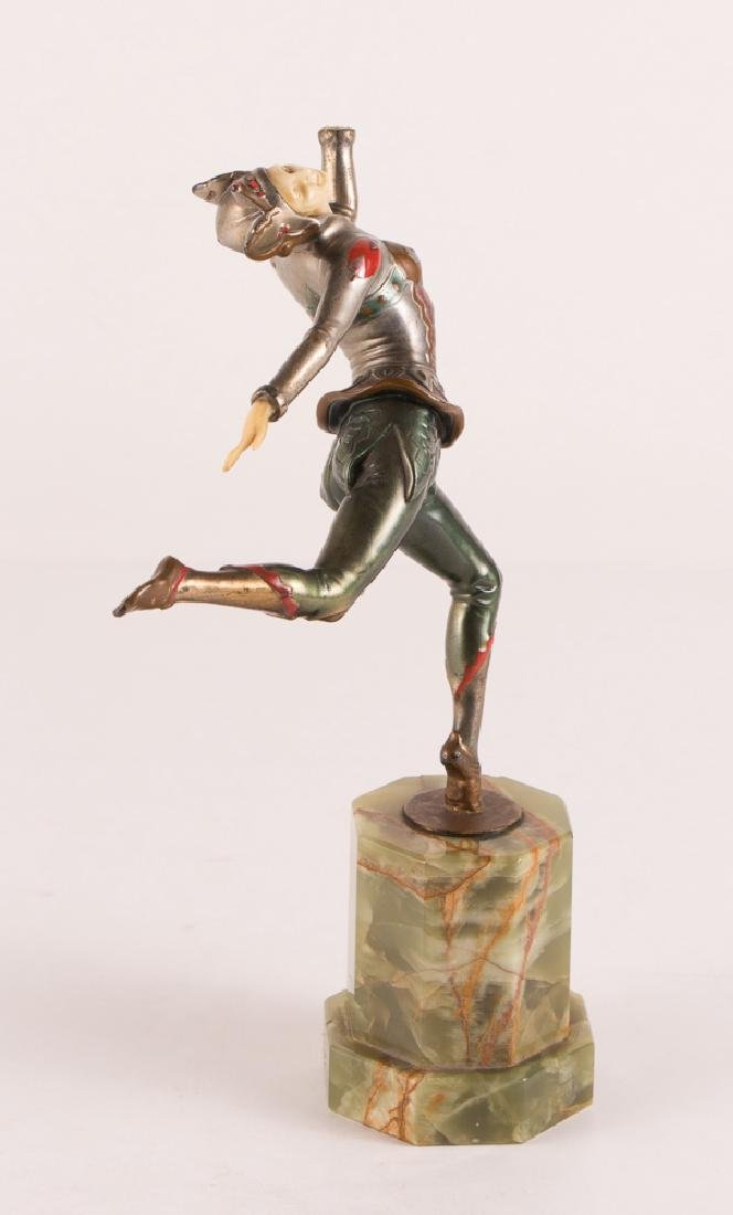 Art Deco Dancer on Marble Stand - 2