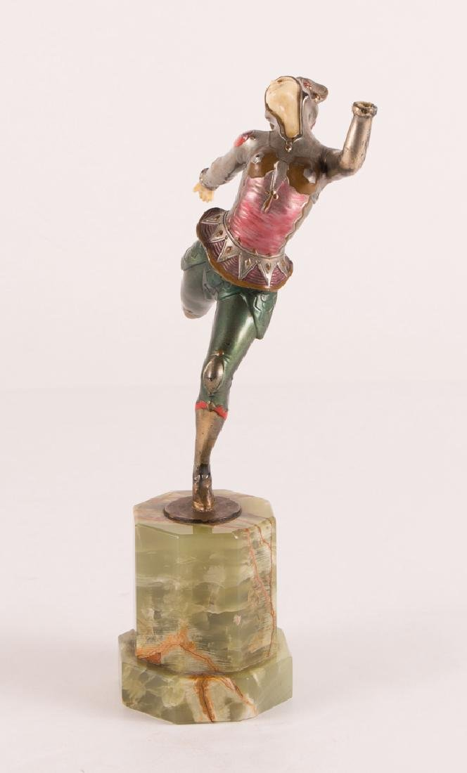 Art Deco Dancer on Marble Stand - 4