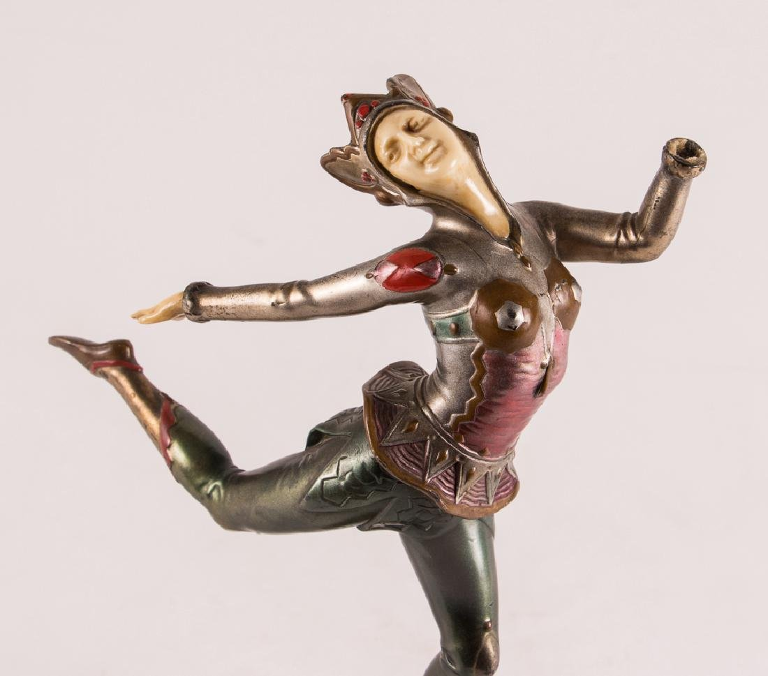 Art Deco Dancer on Marble Stand - 5