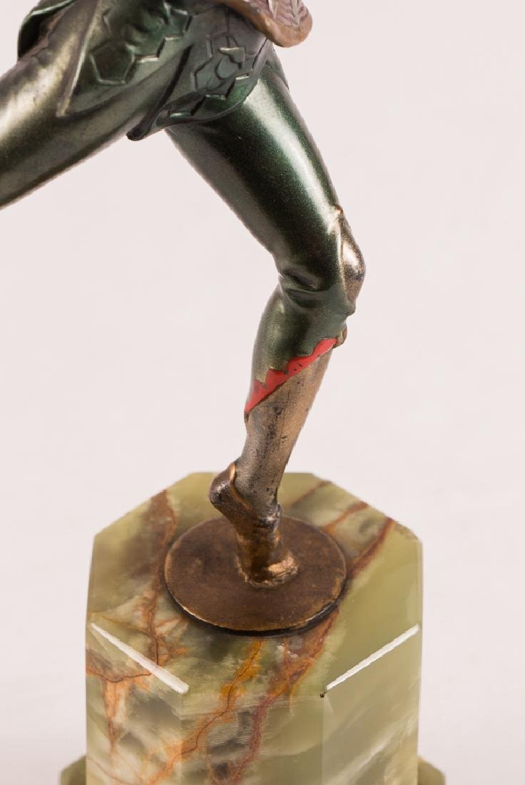 Art Deco Dancer on Marble Stand - 7