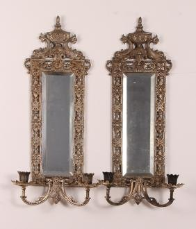 Bradley and Hubbard Mirrored Sconces