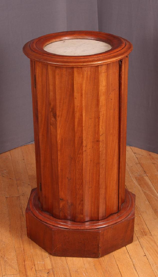 Marble Top Column Shaped Cabinet