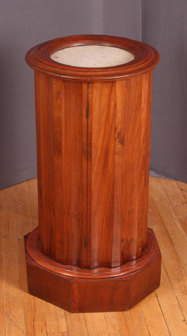 Marble Top Column Shaped Cabinet - 2