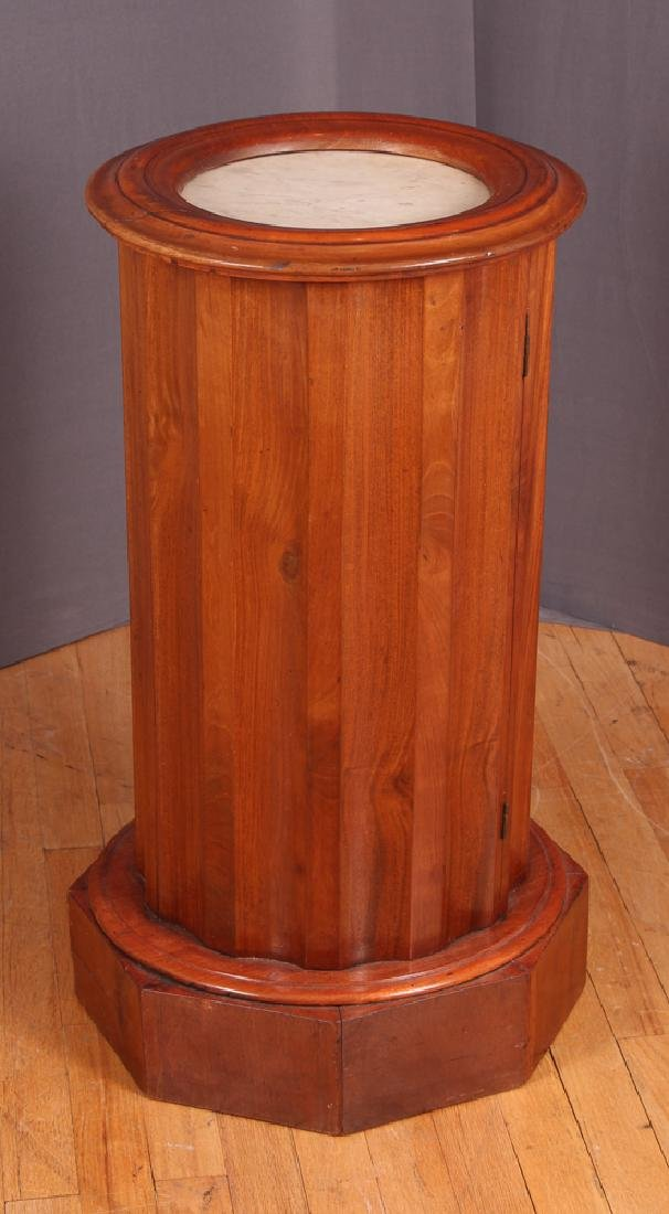 Marble Top Column Shaped Cabinet - 3