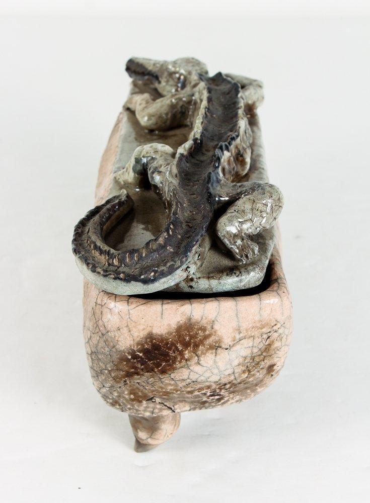 Ceramic Box with Alligator Top - 4