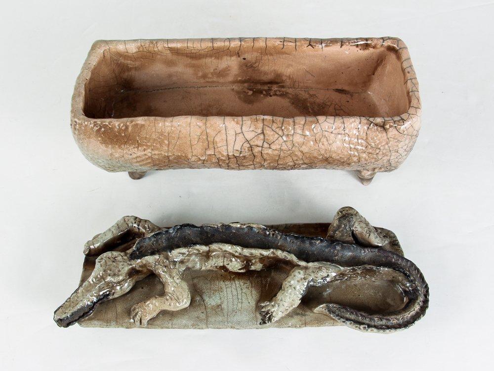 Ceramic Box with Alligator Top - 5