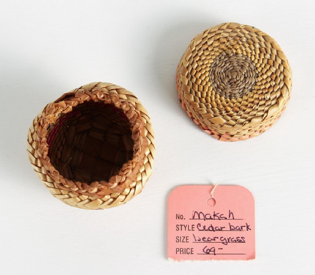 12 Miniature Woven Baskets - 5
