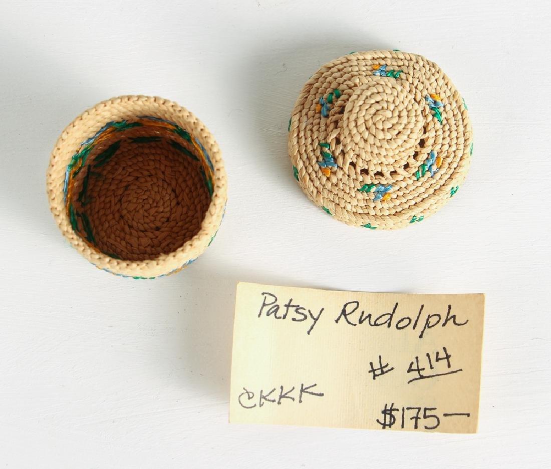 12 Miniature Woven Baskets - 6