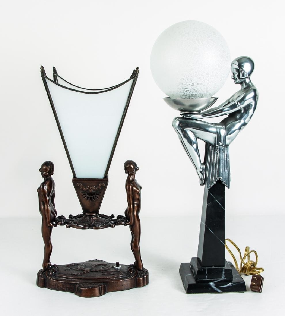Two Art Deco Style Lamps