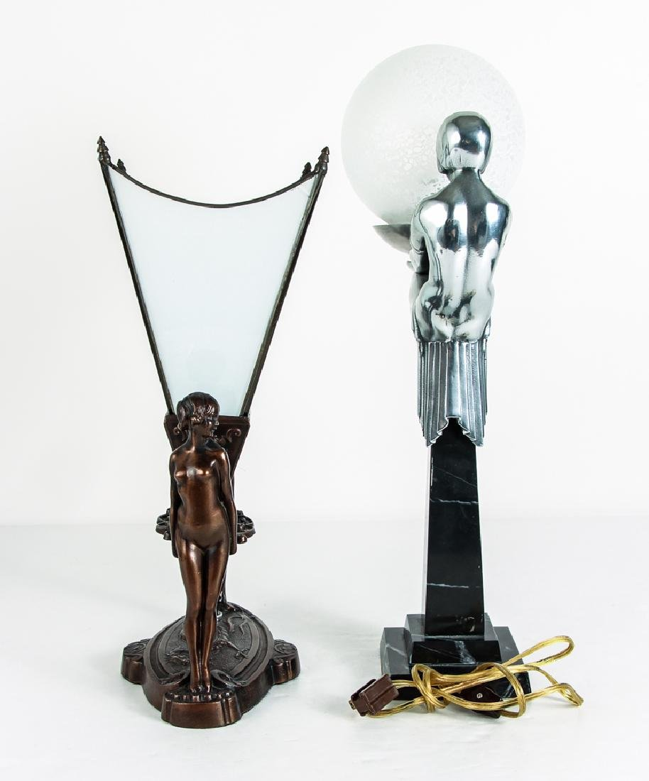 Two Art Deco Style Lamps - 2