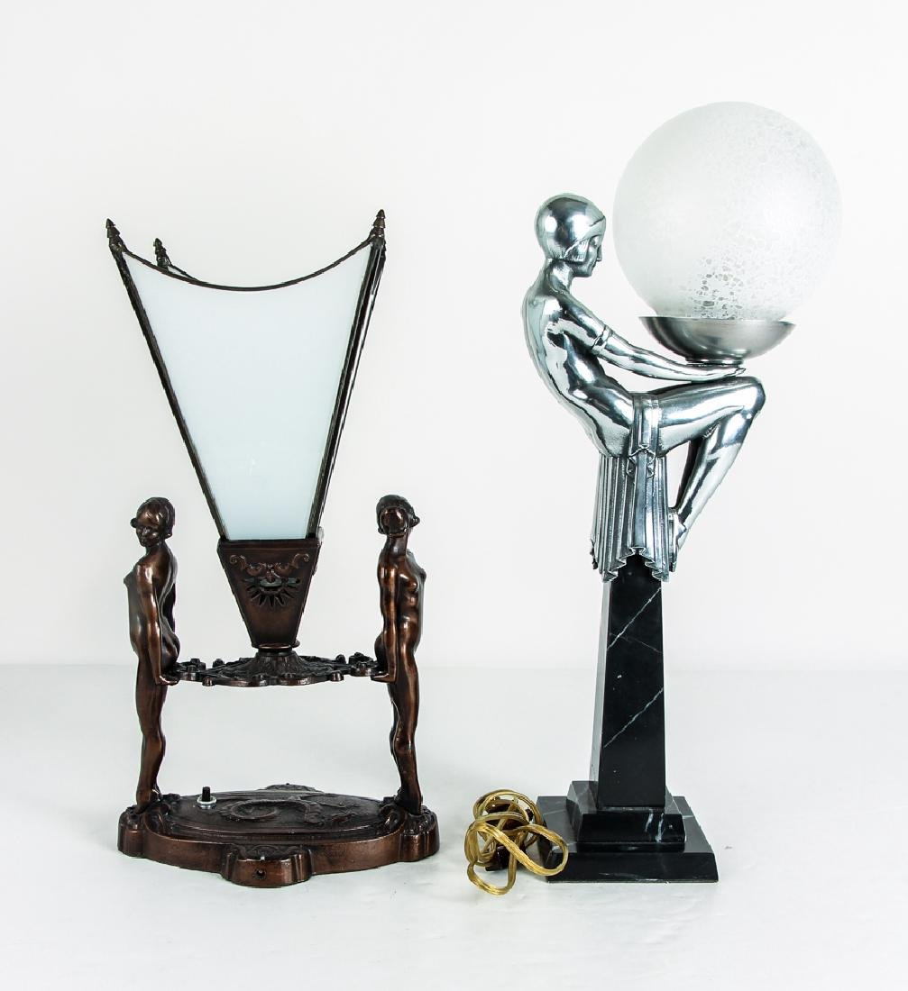 Two Art Deco Style Lamps - 3