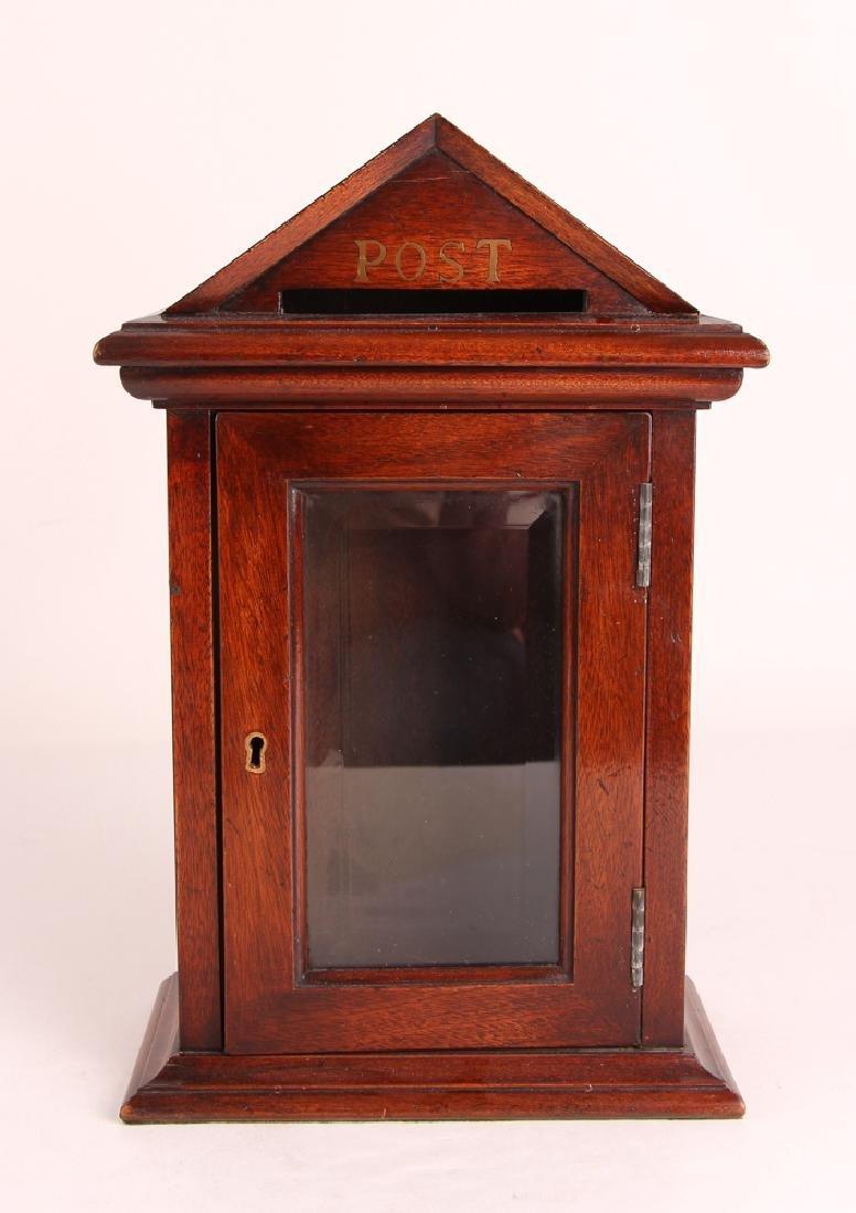 Antique English Desk Top Post Letter Box