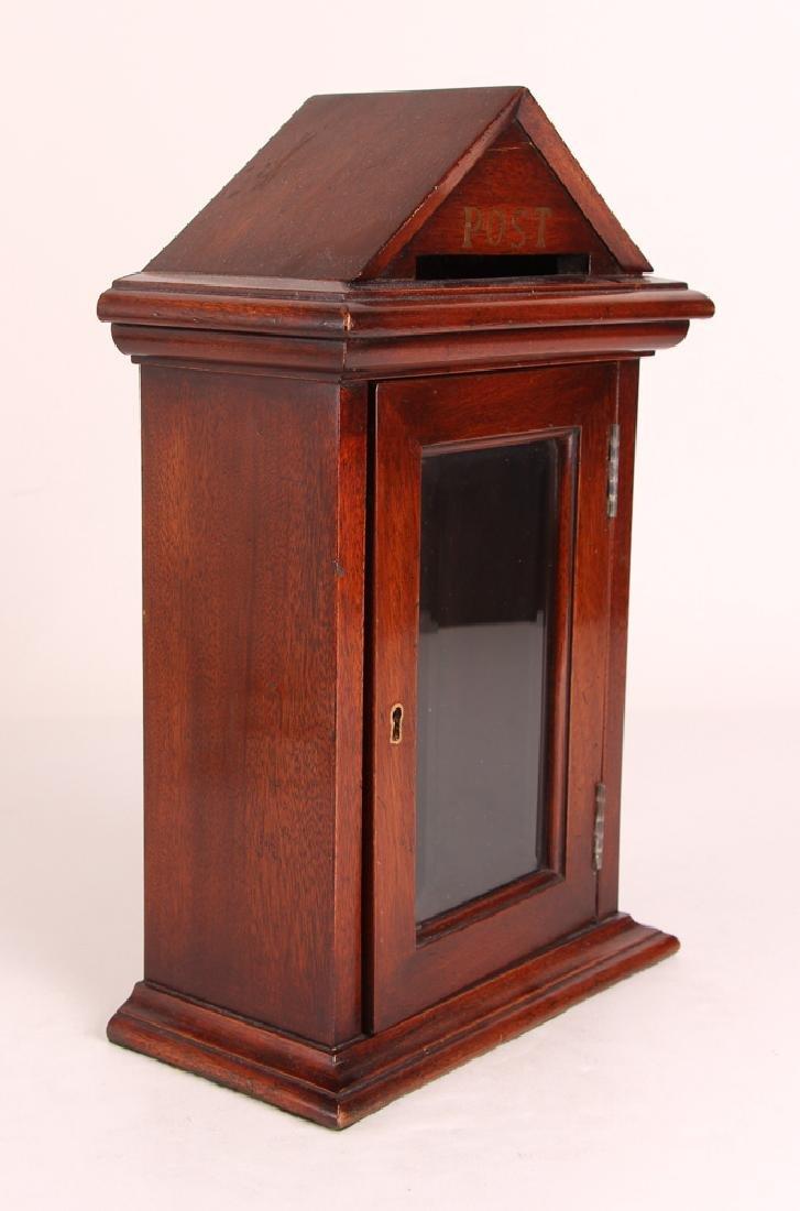 Antique English Desk Top Post Letter Box - 2