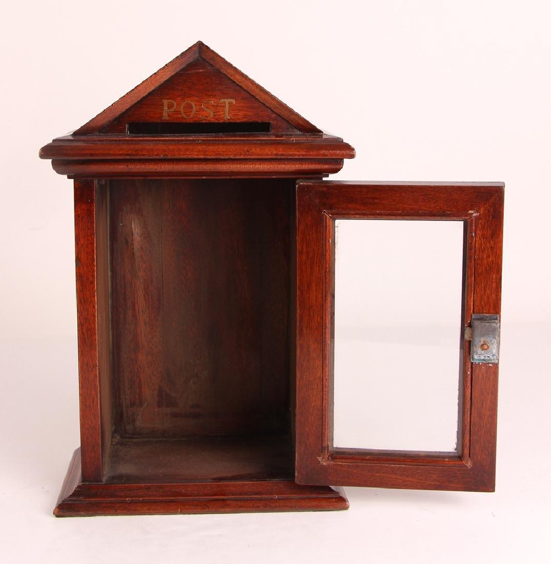 Antique English Desk Top Post Letter Box - 6