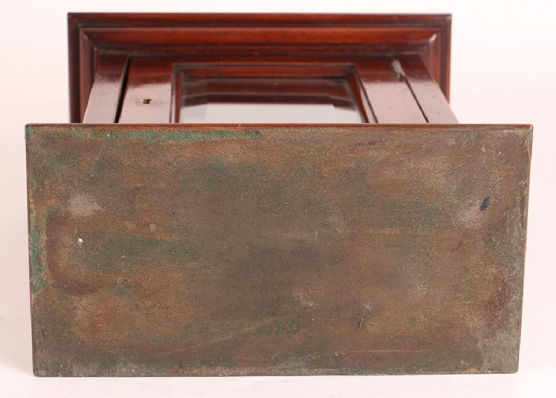 Antique English Desk Top Post Letter Box - 7