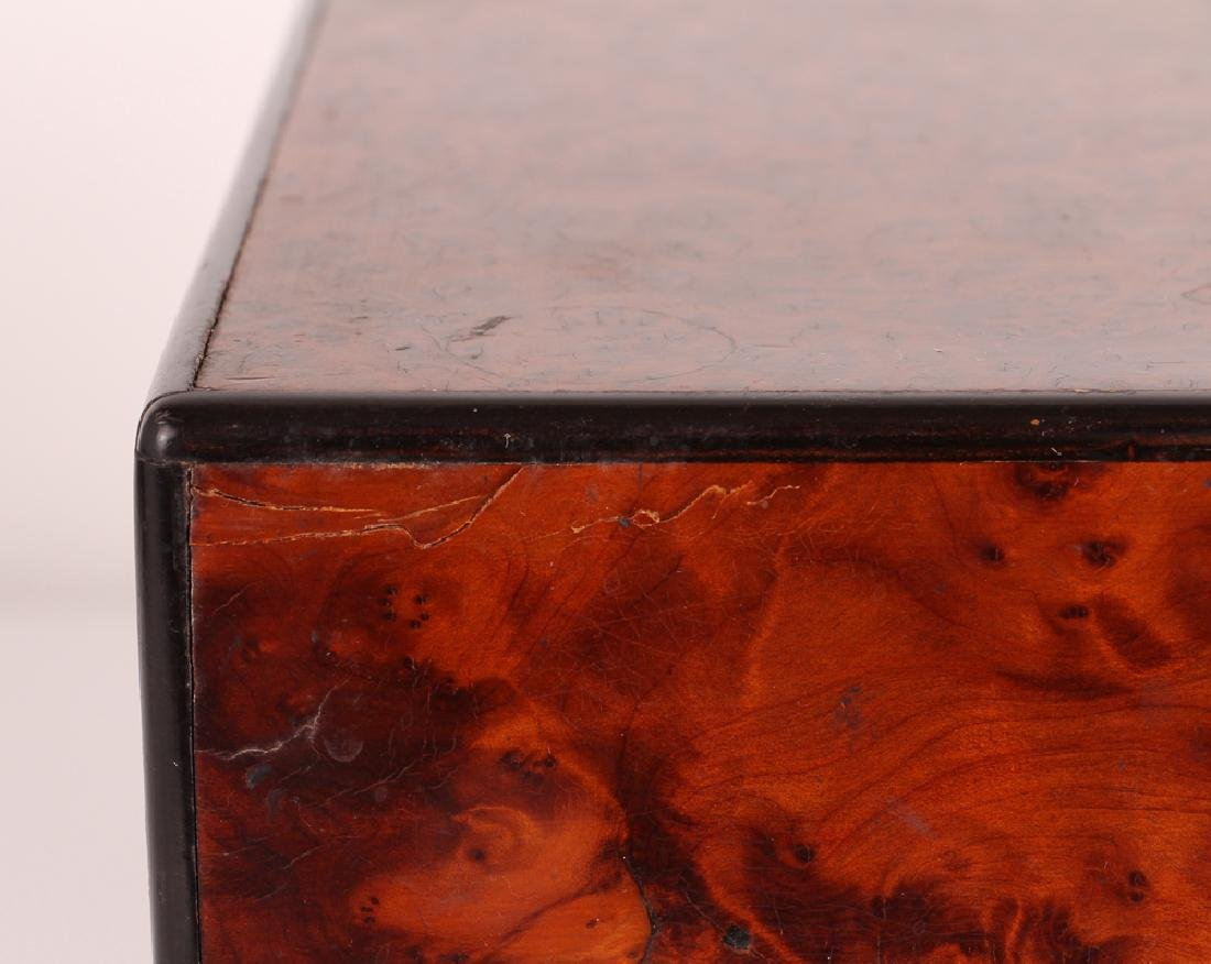 Antique Burled Walnut Gentleman's Box - 10