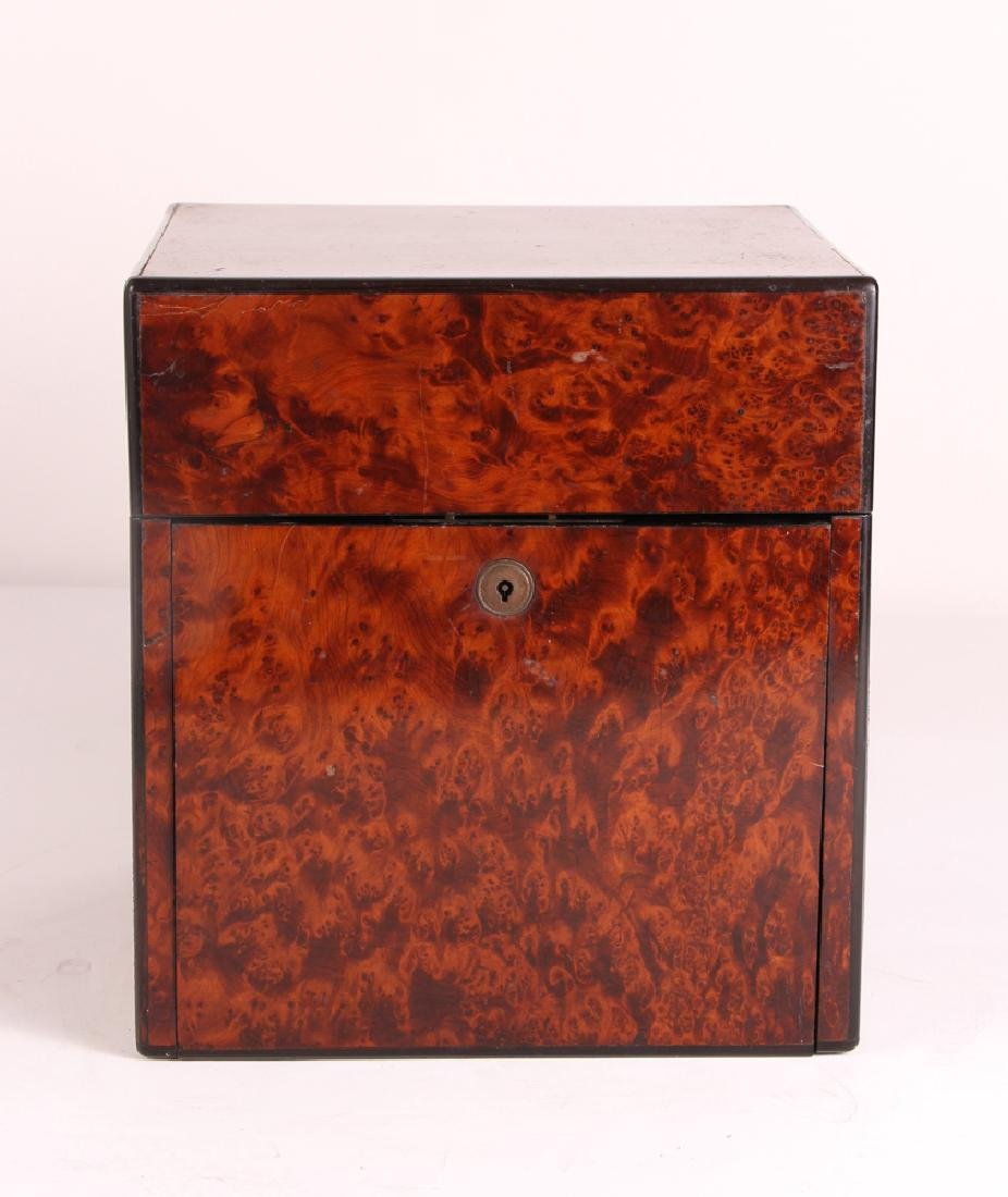 Antique Burled Walnut Gentleman's Box - 8