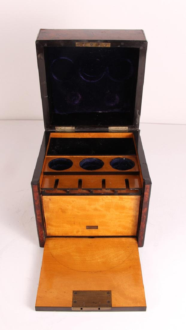 Antique Burled Walnut Gentleman's Box - 9