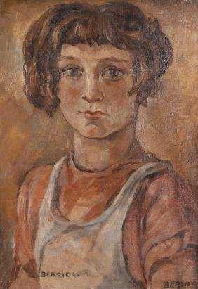 Jean Bersier Portrait of a Young Girl