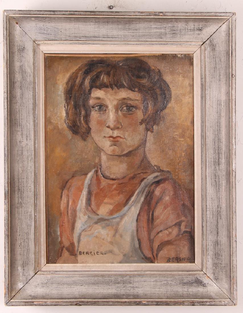 Jean Bersier Portrait of a Young Girl - 2
