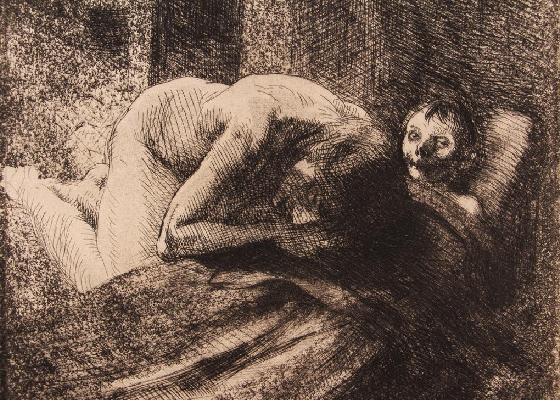 Paul-Albert Besnard 1886 etching La Misiere. - 4