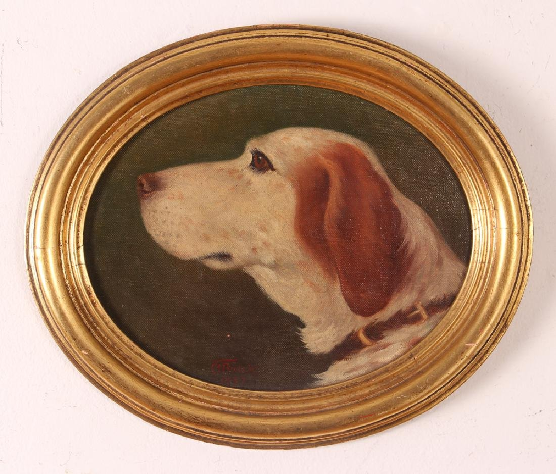Clarence Francis Busch oval portrait of Dog