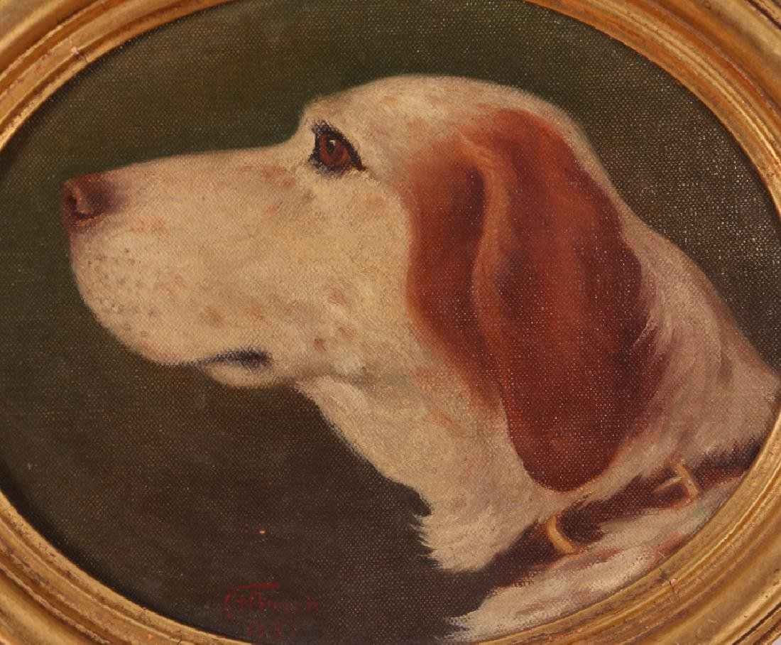 Clarence Francis Busch oval portrait of Dog - 2