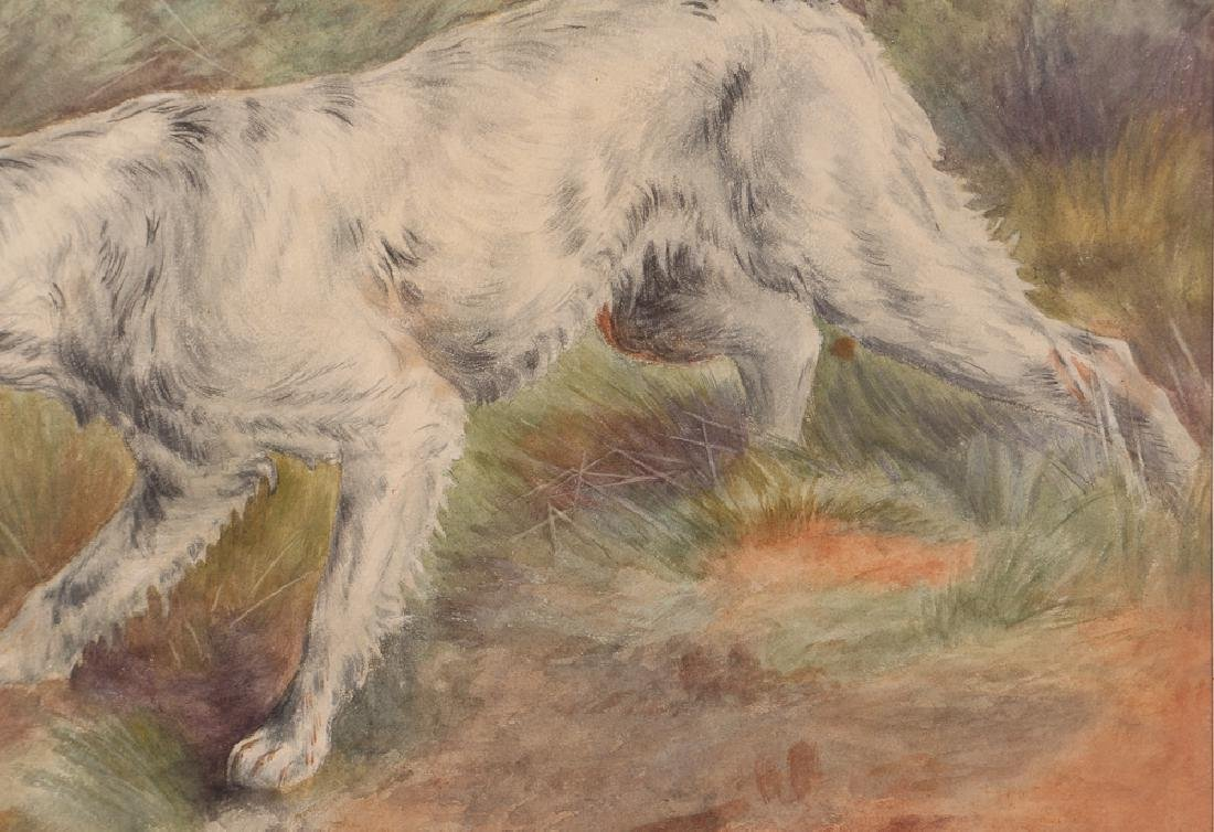 Prize Hunting Setter watercolor after 1810 painting - 5