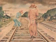 Clarence Carter Picking Coal Watercolor