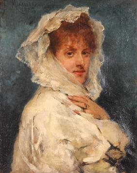Francisco Miralles Galup Portrait Painting