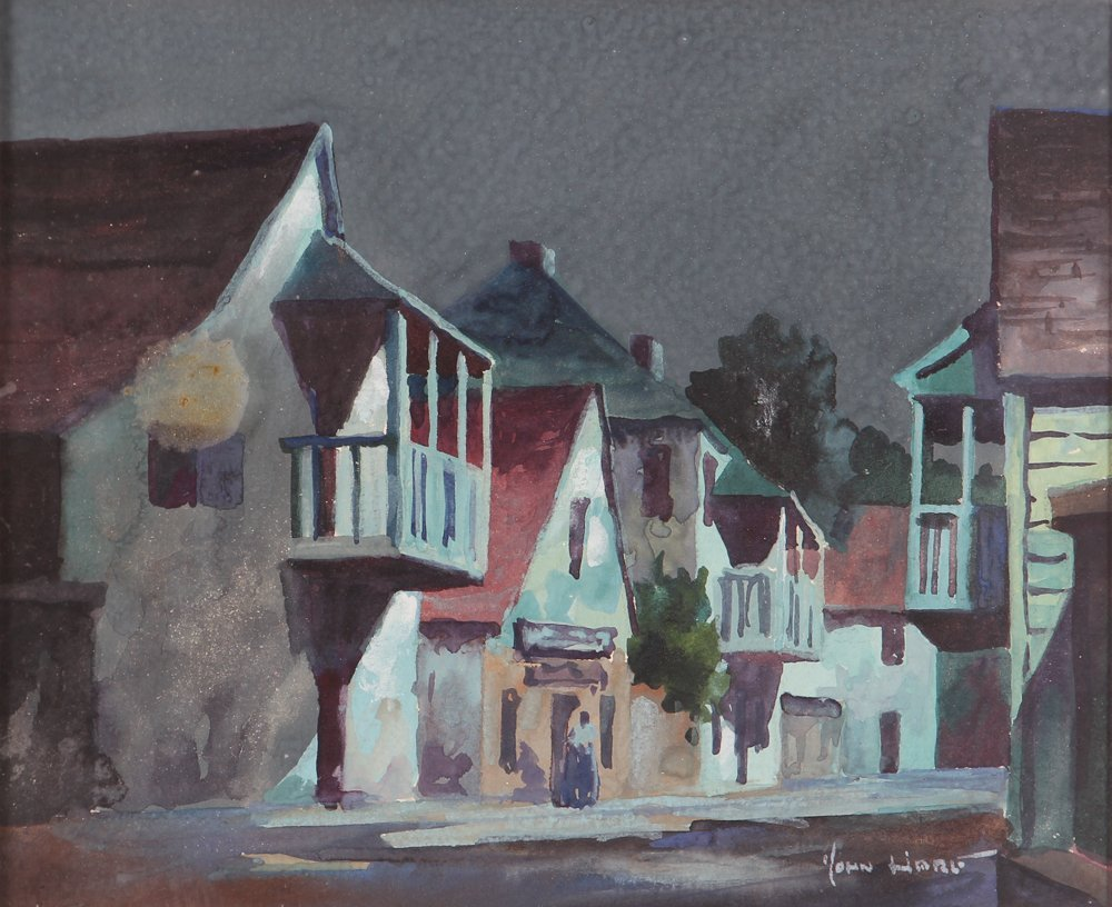 John Hare Watercolor of St. Augustine Florida