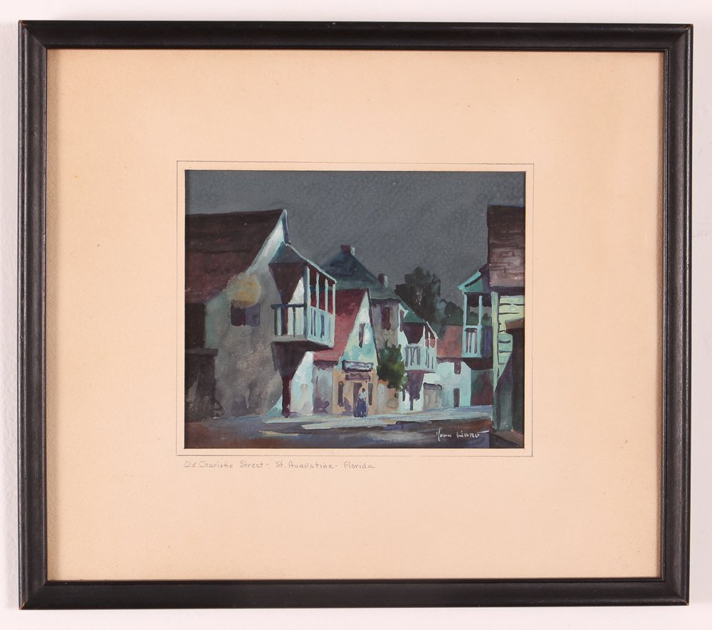John Hare Watercolor of St. Augustine Florida - 2