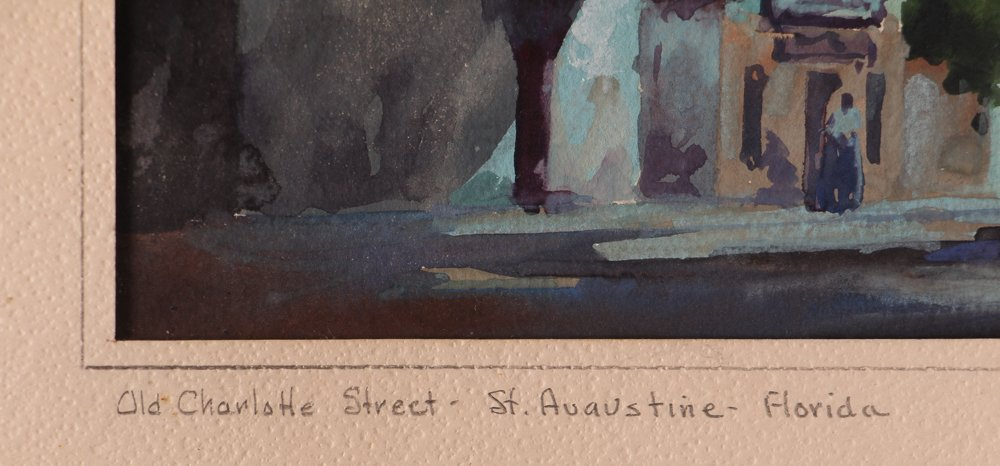 John Hare Watercolor of St. Augustine Florida - 3