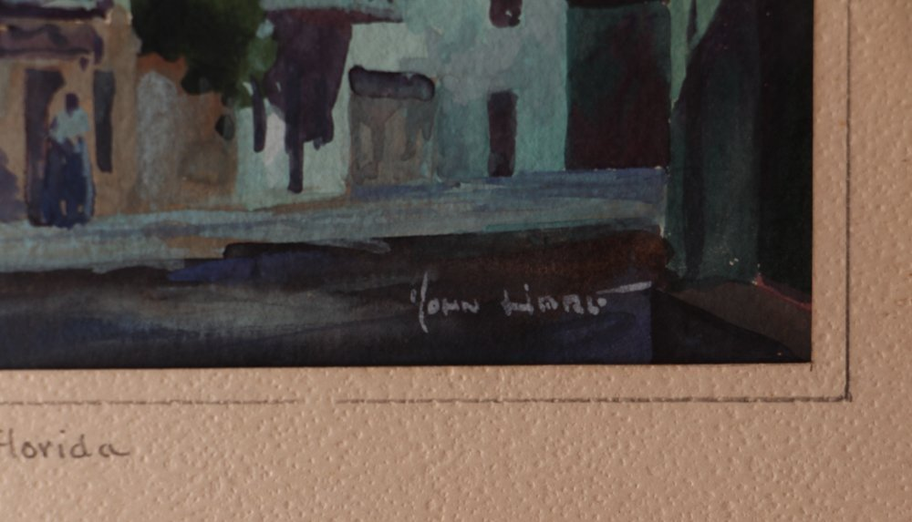John Hare Watercolor of St. Augustine Florida - 4