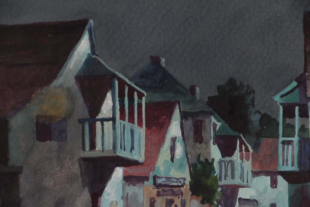 John Hare Watercolor of St. Augustine Florida - 5