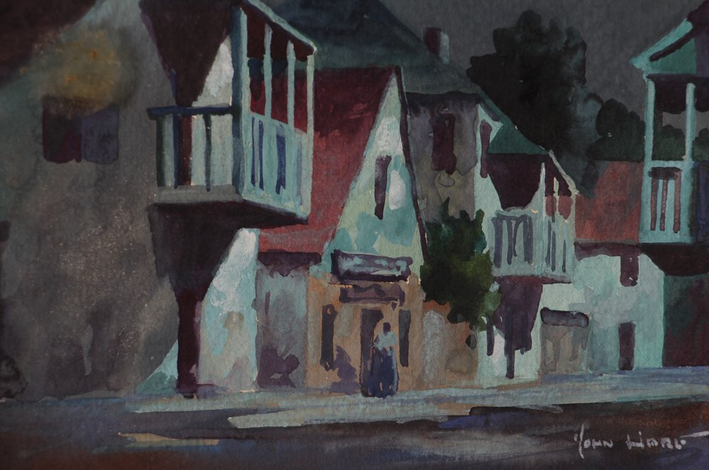 John Hare Watercolor of St. Augustine Florida - 7