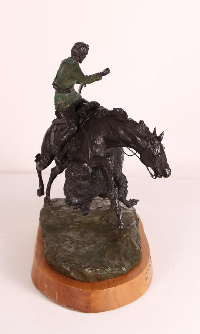 E. E. Heikka When Guns Were Slow Western Bronze - 6