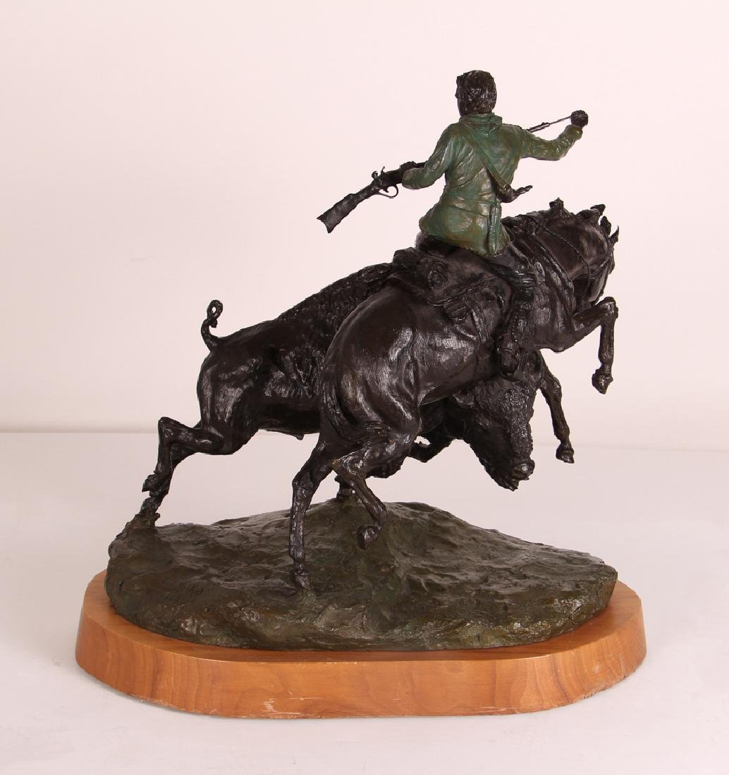 E. E. Heikka When Guns Were Slow Western Bronze - 7