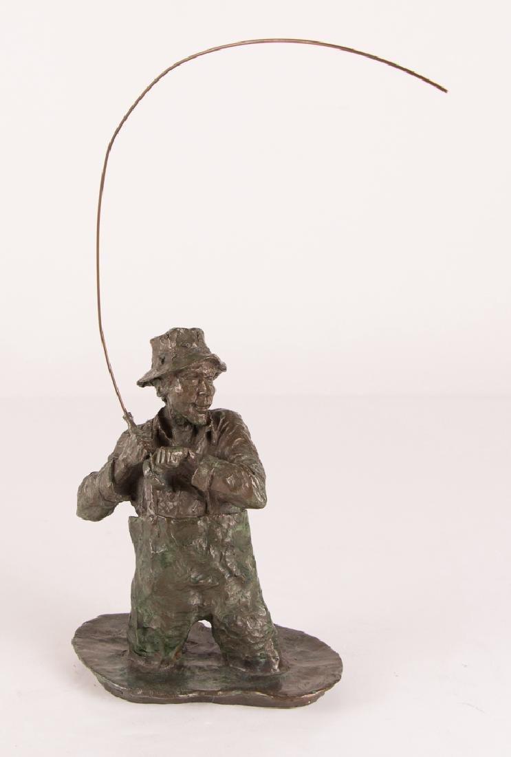 Mark Hopkins Fly Fisherman Bronze