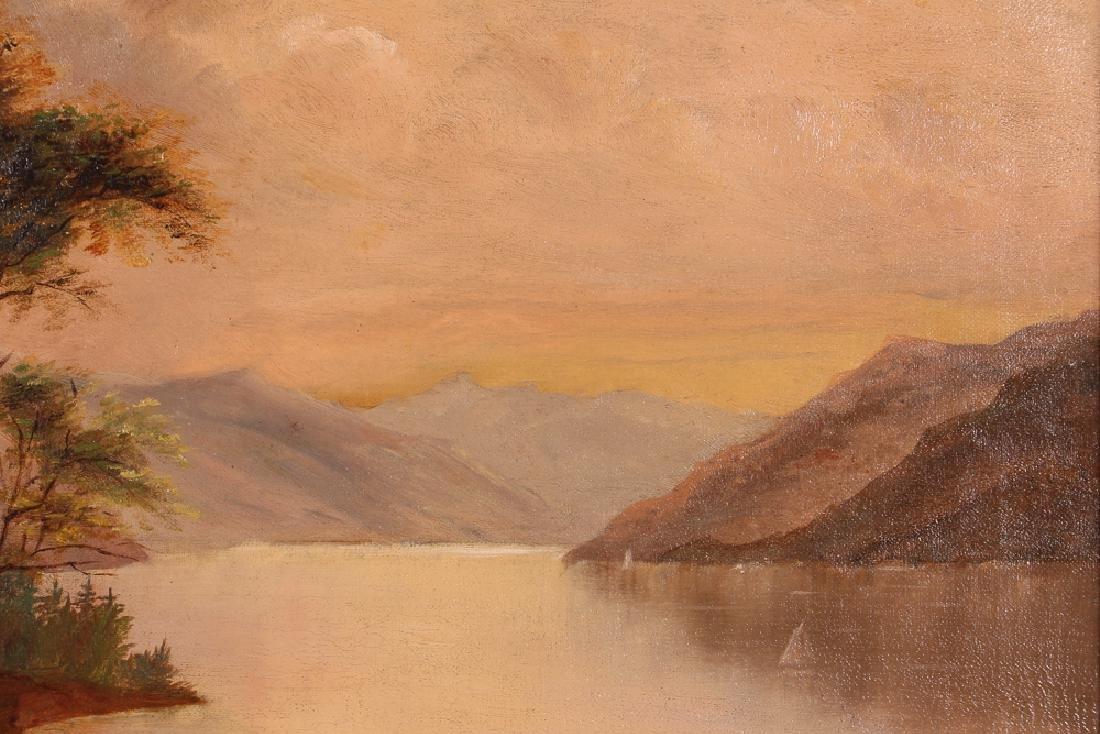 Hudson River School Landscape Riverbank at Dawn - 6