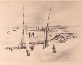 Julian Levi Low Tide Lithograph