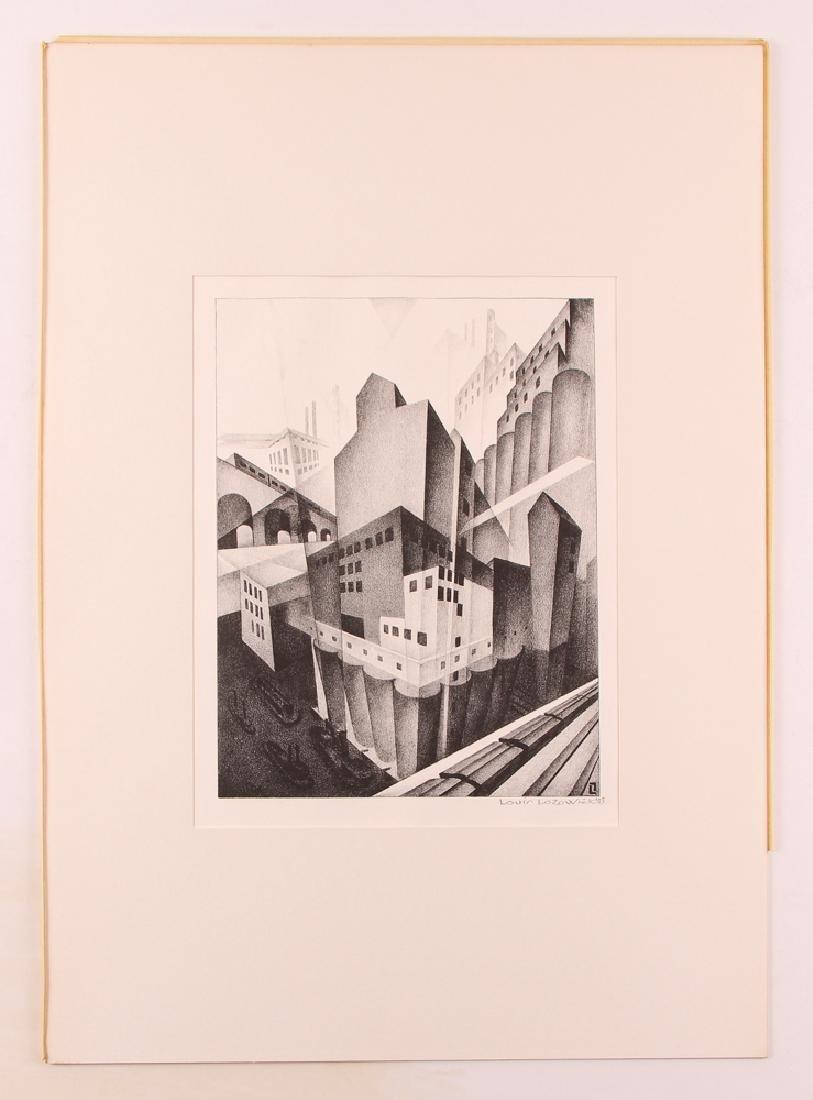 Louis Lozowick 1925 lithograph Minneapolis