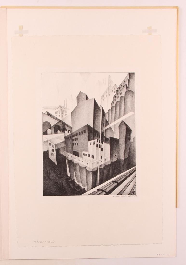 Louis Lozowick 1925 lithograph Minneapolis - 2